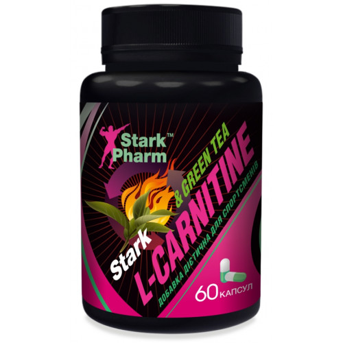 Stark L-Carnitine & Green Tea Extract 600 мг 60 капсул