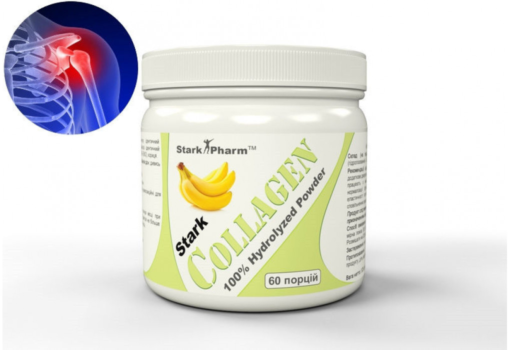 Stark Collagen Banana Powder 528 грамм